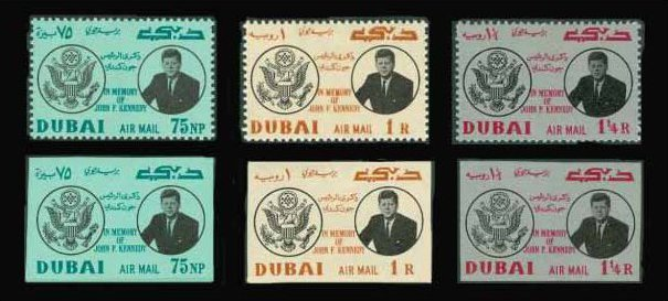 Dubai Holds The Distinction Of Being First Nation To Issue Stamps Honoring President John F Kennedy After His Assassination